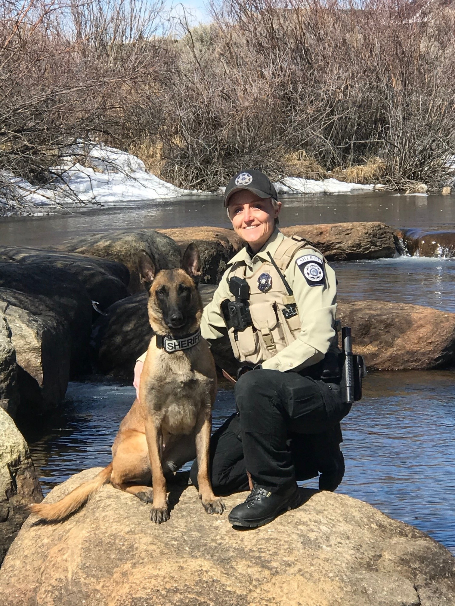 (Pinedale, Wyo – March 29th, 2021) The Sublette County Sheriff's Office introduces K9 Frankie to the agency, and receives donation of body armor.