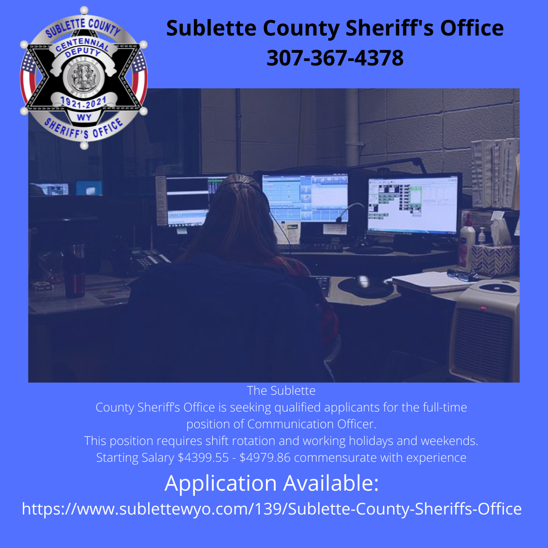 SCSO seeking qualified candidates for Communications Officer