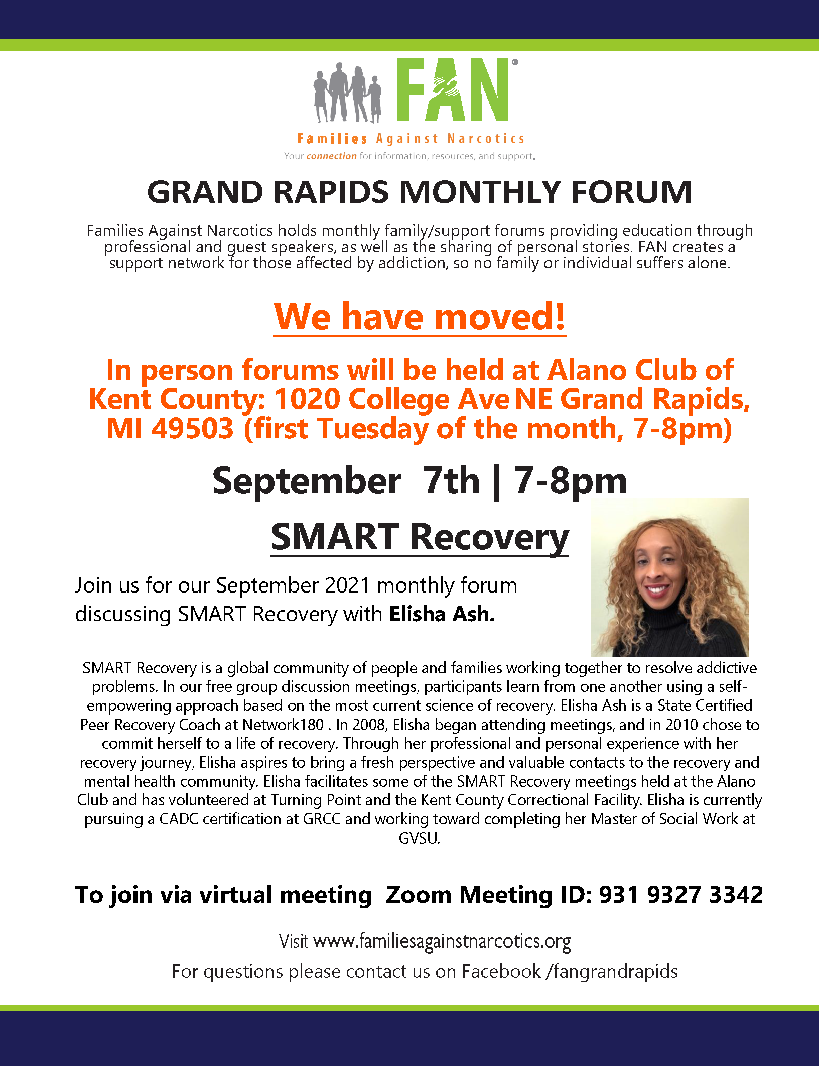 Grand Rapids Families Against Narcotics (FAN) Meeting 09/07/2021