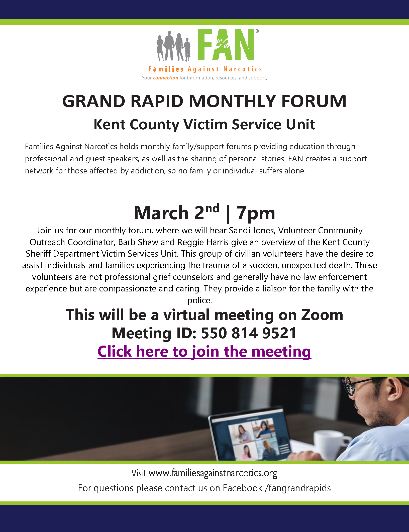 Grand Rapids Families Against Narcotics (FAN) Meeting 03/02/2021