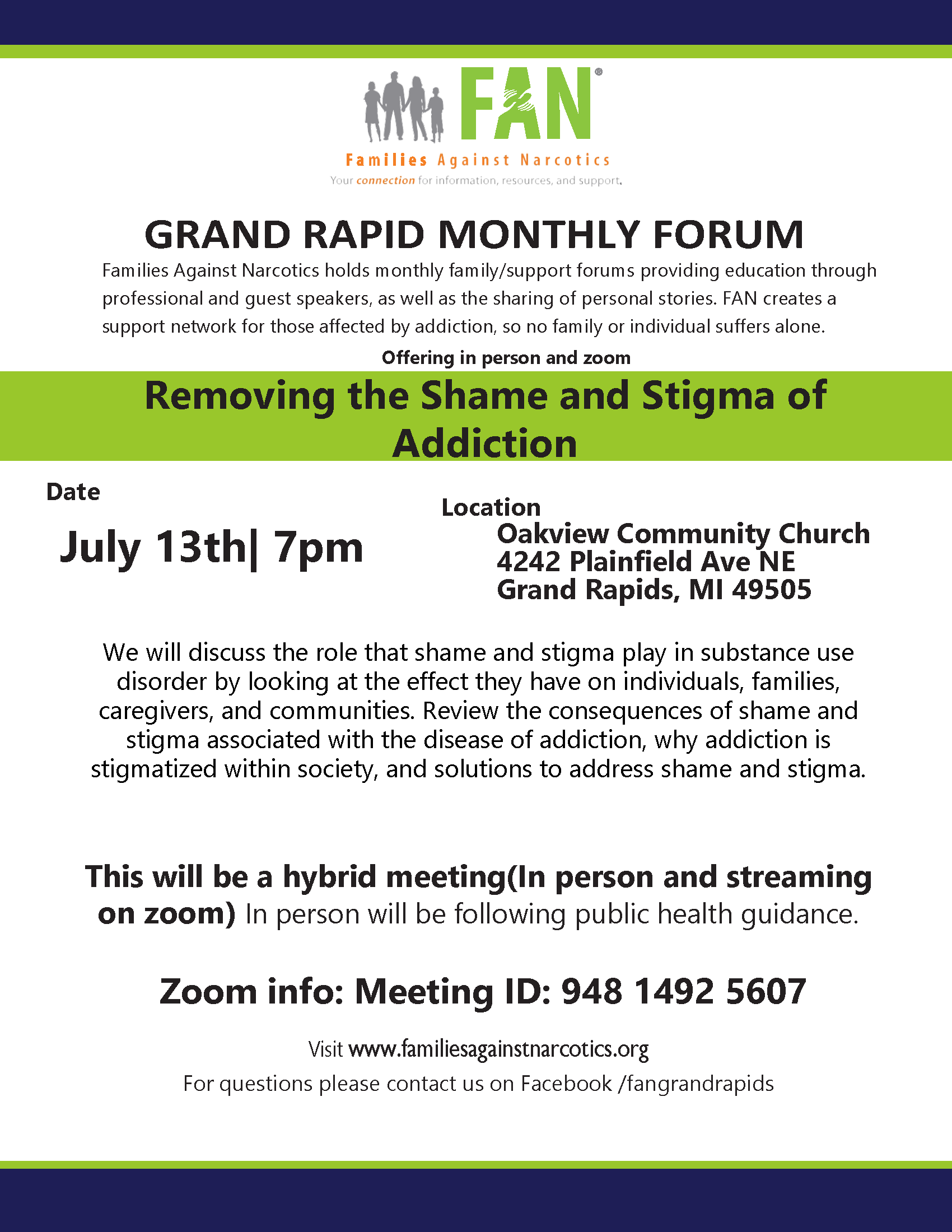 Grand Rapids Families Against Narcotics (FAN) Meeting 07/13/2021