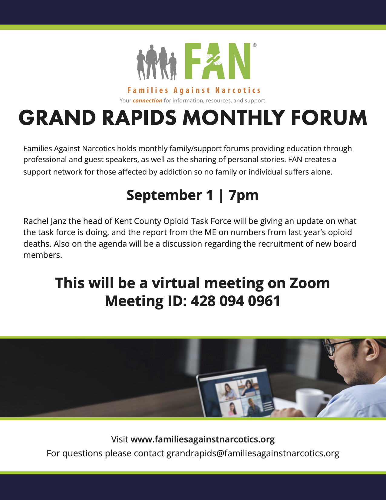 Grand Rapids Families Against Narcotics (FAN) Meeting Tonight