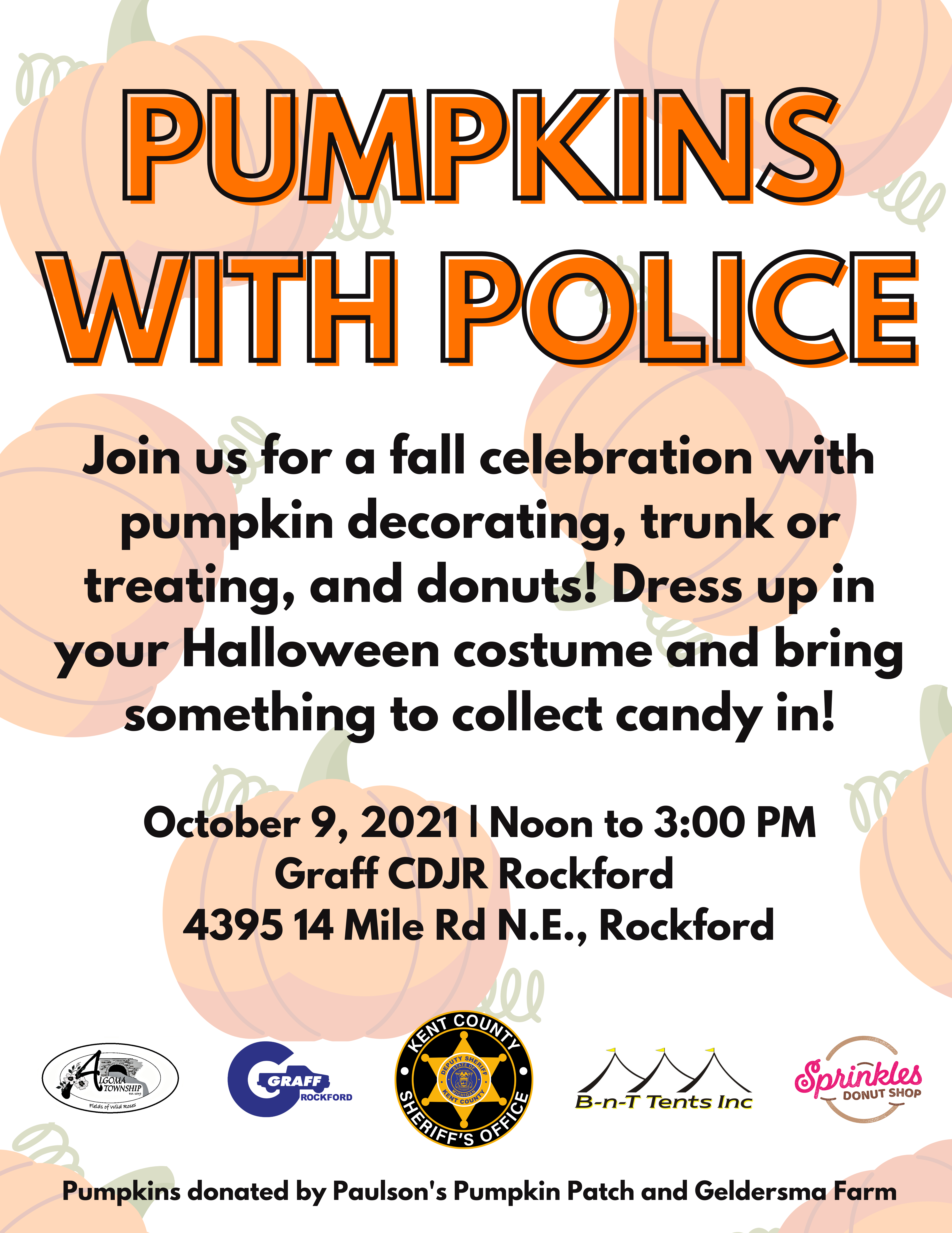 KCSO Hosts Pumpkins with Police on October 9 in Rockford