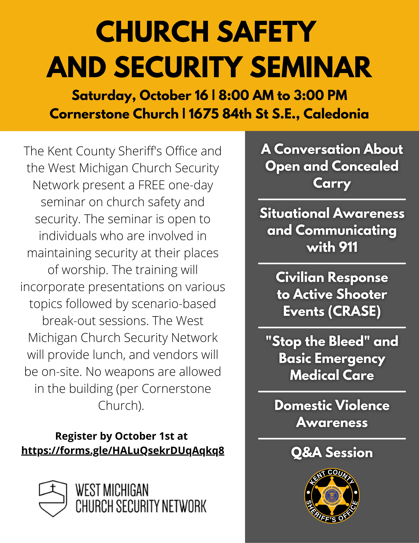 KCSO Hosts Church Safety and Church Seminar on 10/16/2021