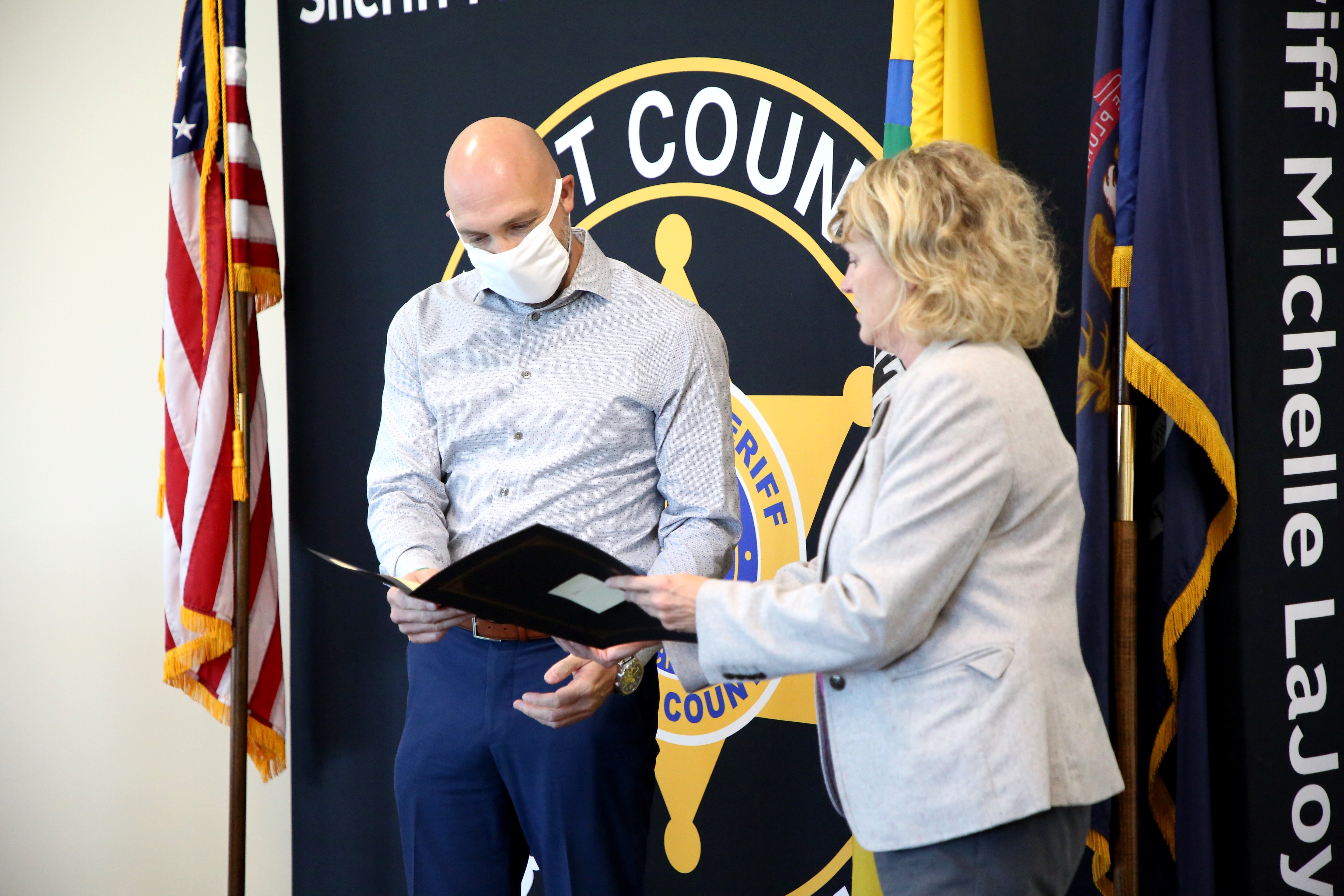 KCSO Presents Letter of Appreciation to Residents Nick Haughton and Nina Palmateer