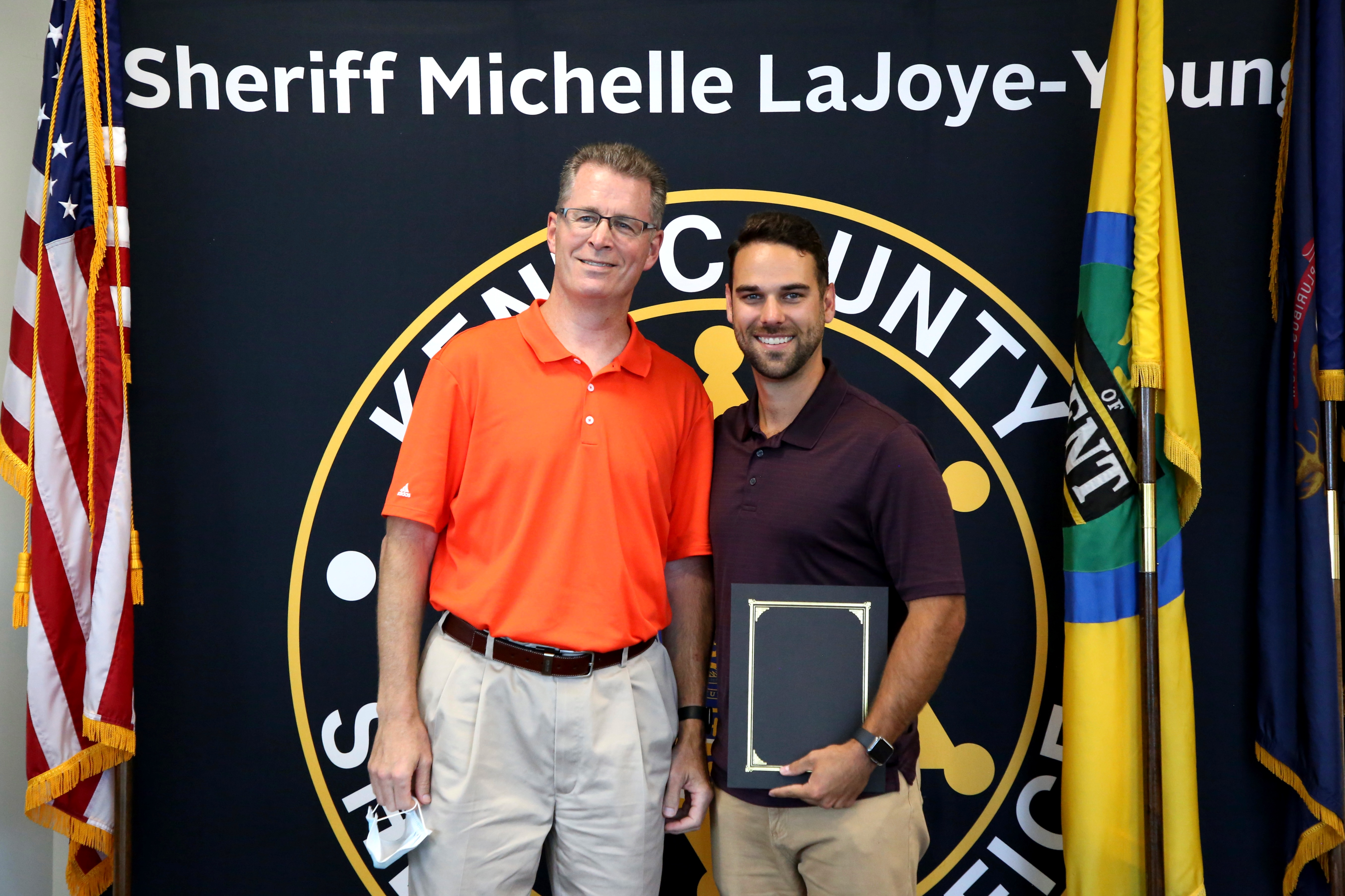 KCSO Presents Letter of Appreciation to Residents Tyler Nickels and Jennifer Preston