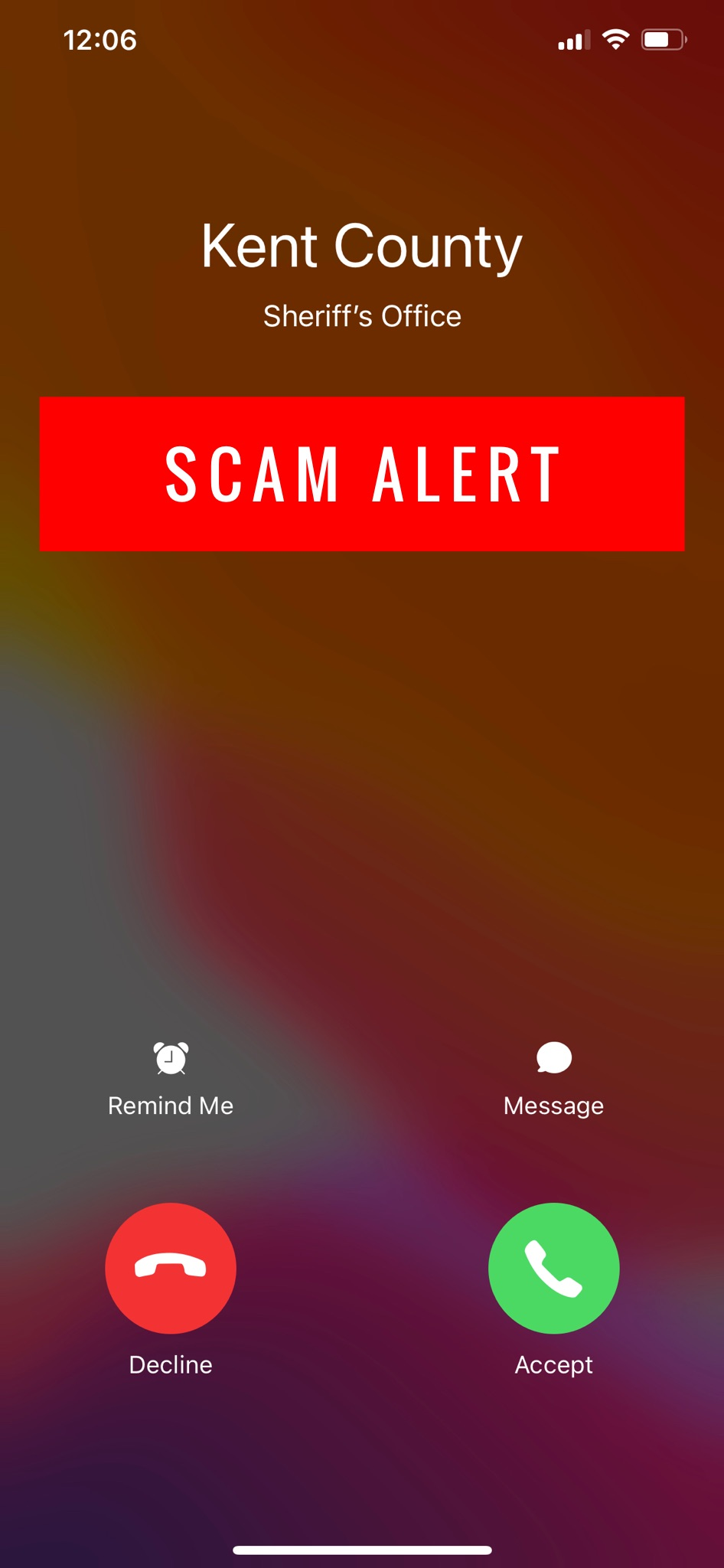 Law Enforcement Impersonation Phone Call Scam